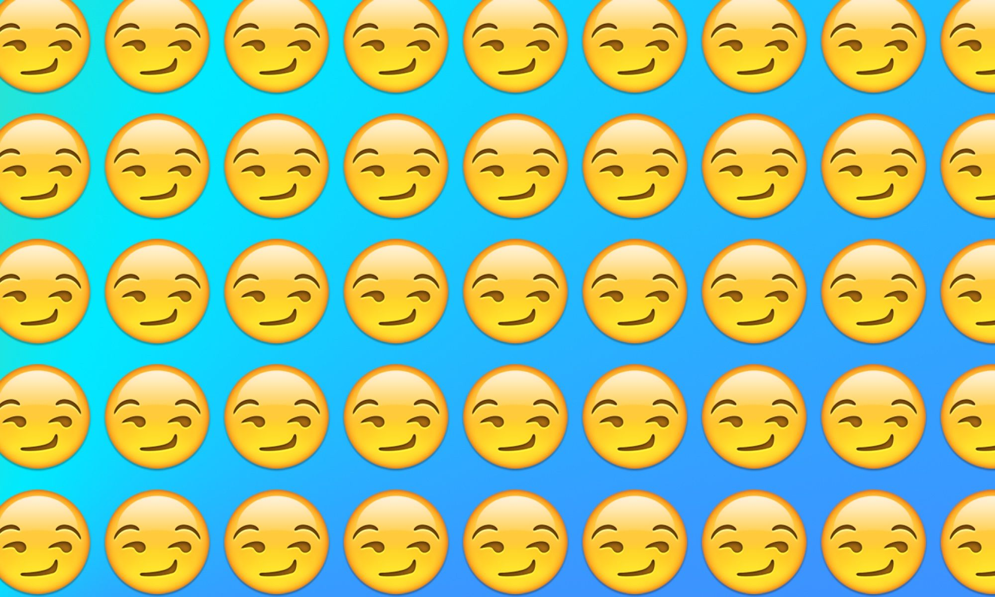 Emojiology: 😏 Smirking Face
