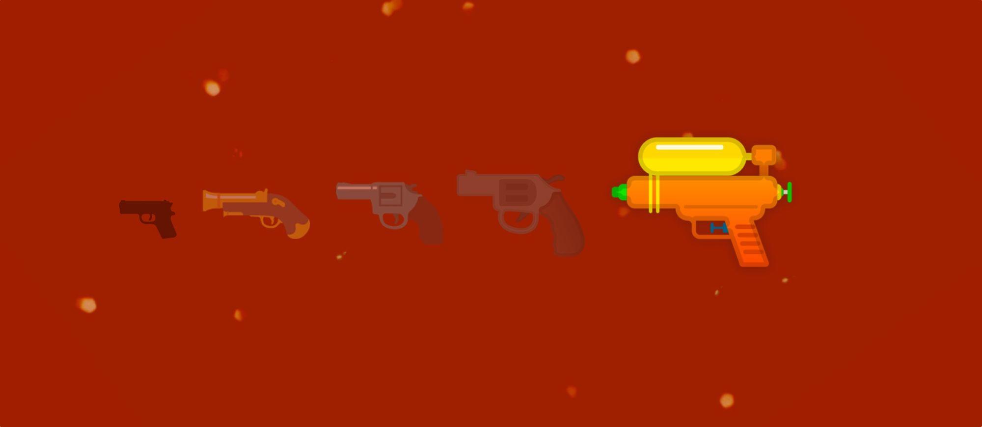 Google Updates Gun Emoji