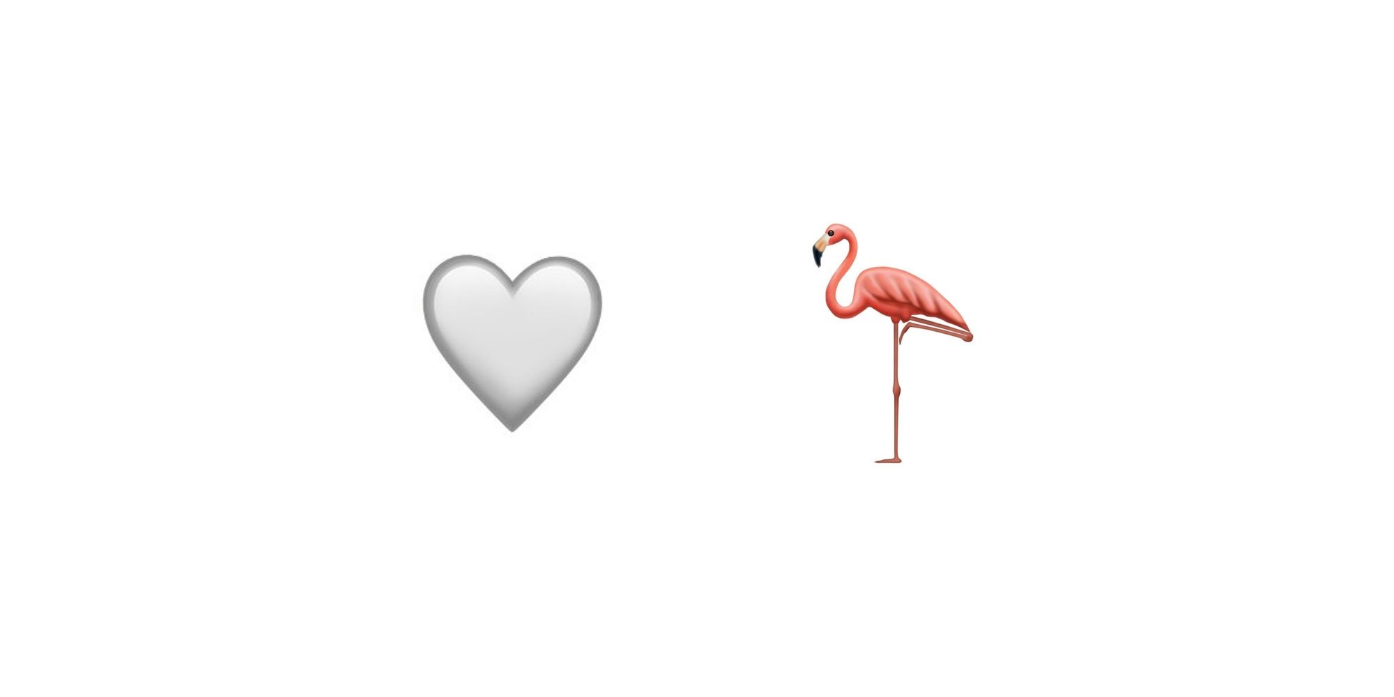 White Heart, Flamingo Added As Emoji Candidates