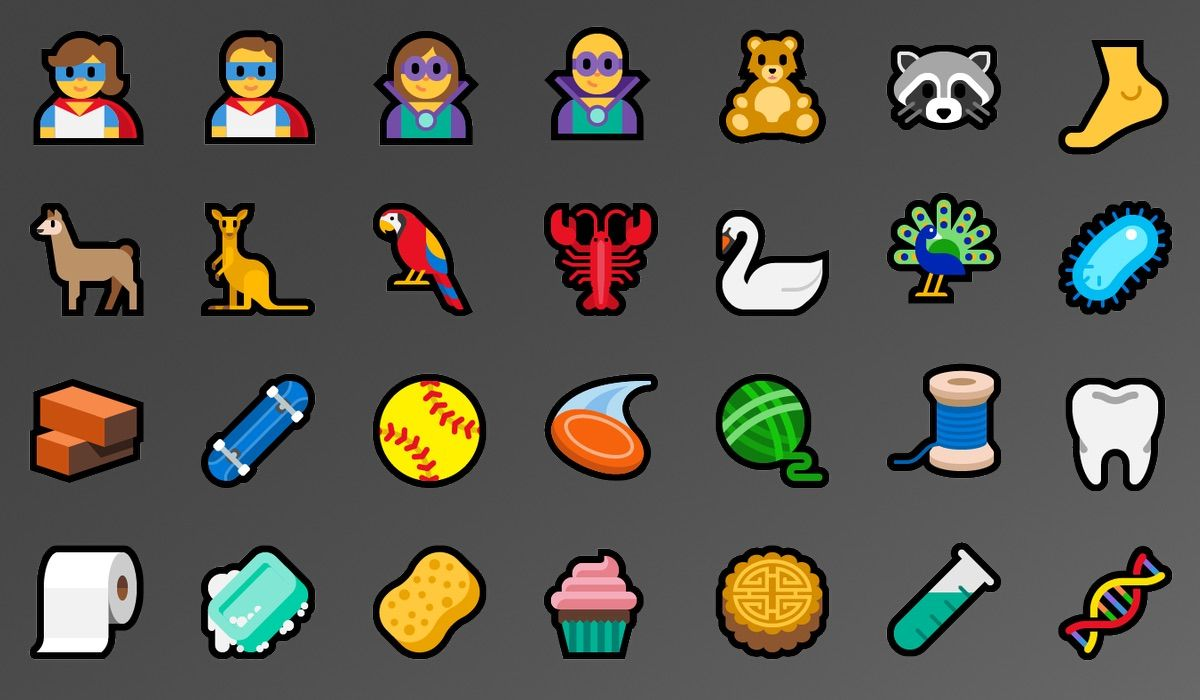 Windows 10 Previews Emoji 11.0 Support