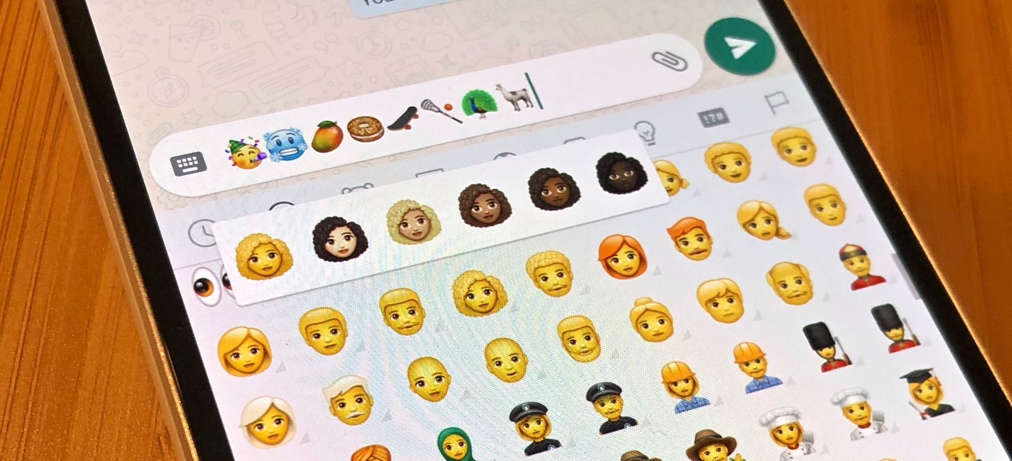 WhatsApp 2.19.7 Emoji Changelog