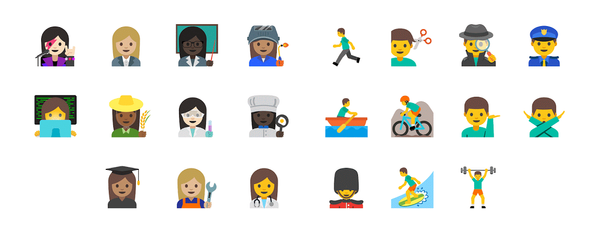 Gendered Emojis Coming In 2016